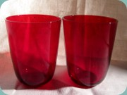 Red tumblers