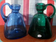 Small decanters or                           handled vases by Monica Bratt Reijmyre