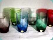 Set of 6 small                           tumblers in different colours by Reijmyre