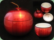 60's or 70's red anodised metal ice bucket shapet like an apple, Daydream Australia